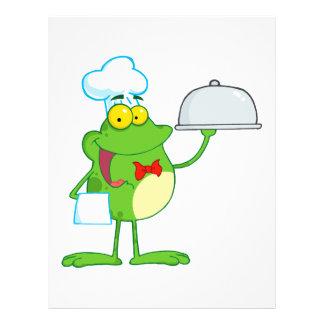"""comida divertida de la porción de la rana del frog folleto 8.5"""" x 11"""""""