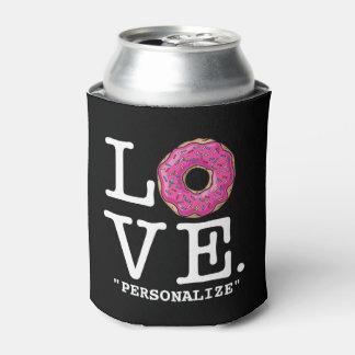 Comida divertida del amor del buñuelo enfriador de latas