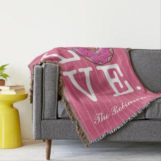 Comida divertida del amor del buñuelo manta
