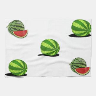 Comida dulce de la diversión del parque del melón  toallas de cocina