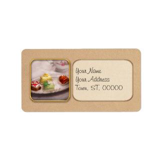 Comida - dulce - torta - las invitaciones de la etiquetas de dirección