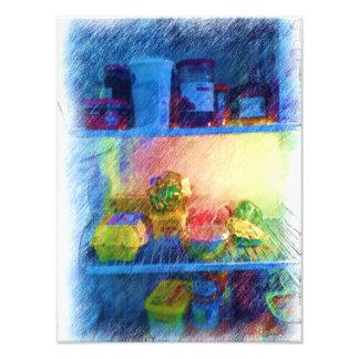comida en el refrigerador impresion fotografica