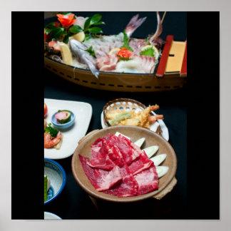 Comida en Japón, comida japonesa Póster