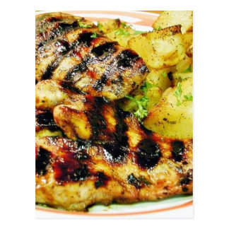 Comida esmaltada del pollo tarjeta postal