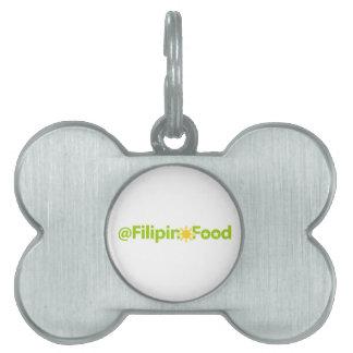 Comida filipina placa de nombre de mascota