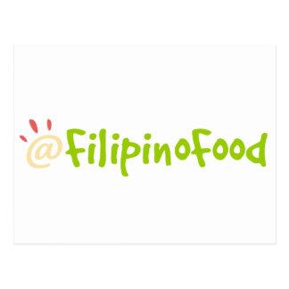 Comida filipina tarjetas postales