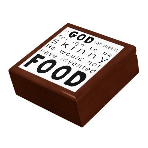 Comida flaca caja de recuerdo