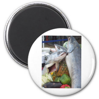 Comida fría de Alaska de los salmones Imán Para Frigorifico