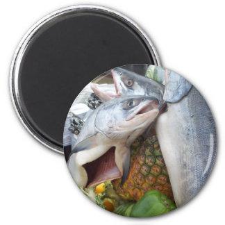 Comida fría de Alaska de los salmones Imanes Para Frigoríficos