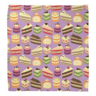 Comida fría de la torta (púrpura) bandana