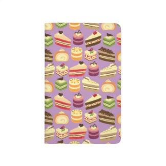 Comida fría de la torta (púrpura) cuadernos grapados