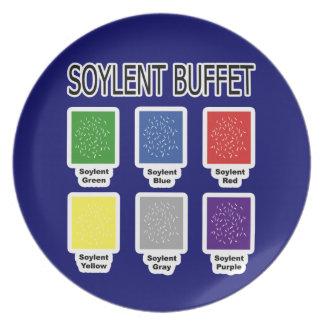 Comida fría de Soylent es placa de la gente Platos Para Fiestas