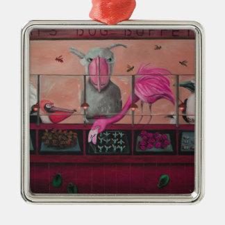 Comida fría del insecto de Bert en rosa Ornamentos Para Reyes Magos