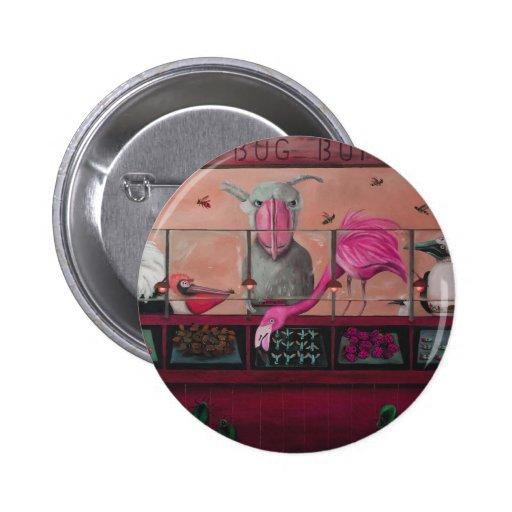 Comida fría del insecto de Bert en rosa Pins