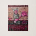 Comida fría del insecto de Bert en rosa Rompecabezas