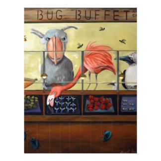 Comida fría del insecto de Bert Plantillas De Membrete
