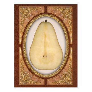 Comida - fruta - una rebanada de pera del bosc tarjetas postales