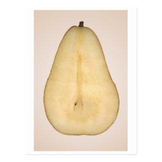 Comida - fruta - una rebanada de pera del bosc tarjeta postal