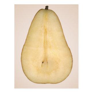 Comida - fruta - una rebanada de pera del bosc postales