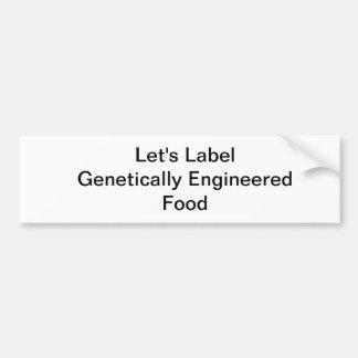 Comida genético dirigida de la etiqueta de la pega pegatina para auto