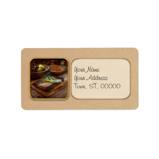 Comida - huerto - variedad etiquetas de dirección
