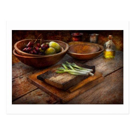 Comida - huerto - variedad postal