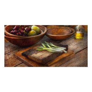 Comida - huerto - variedad tarjetas fotográficas