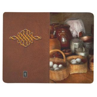 Comida - huevos - desayuno del país cuaderno