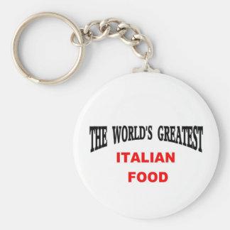 Comida italiana llaveros personalizados