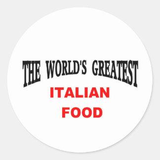 Comida italiana pegatina redonda