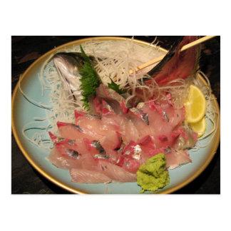Comida japonesa del 刺身 del Sashimi… Tarjetas Postales