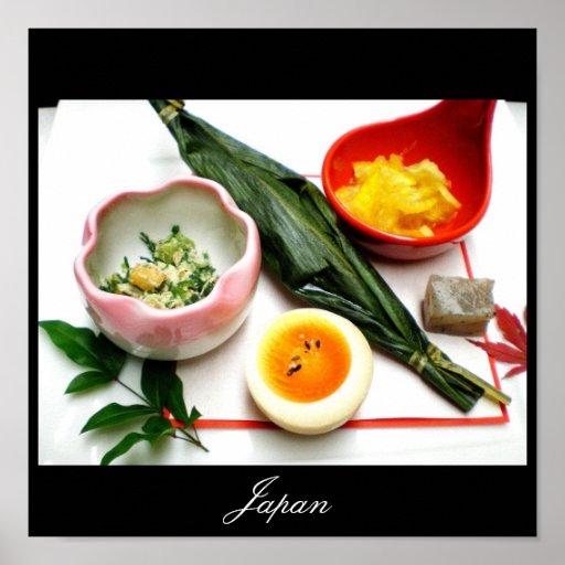 Comida japonesa, imágenes de Japón Posters