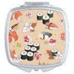 Comida japonesa: Modelo 3 del sushi Espejos Compactos
