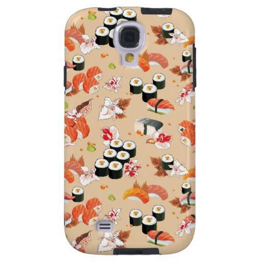 Comida japonesa: Modelo 3 del sushi Funda Para Galaxy S4
