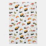 Comida japonesa: Modelo del sushi Toallas De Mano