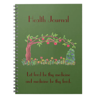 comida jounral spiral notebook