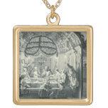 Comida judía durante el banquete de los tabernácul colgante cuadrado