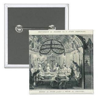 Comida judía durante el banquete de los tabernácul pin cuadrado