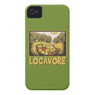 Comida lenta de Locavore iPhone 4 Case-Mate Cárcasas