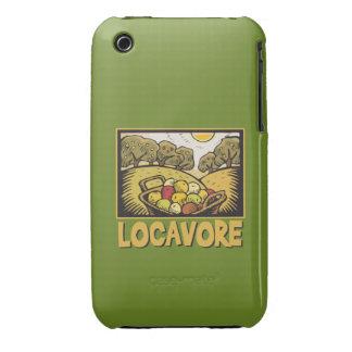 Comida lenta de Locavore iPhone 3 Case-Mate Fundas