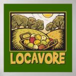 Comida lenta de Locavore Posters