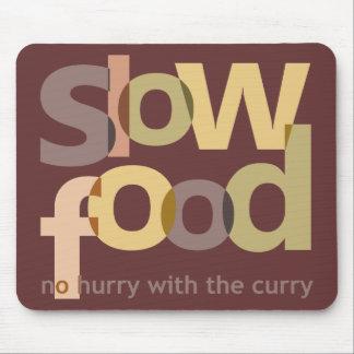 Comida lenta mousepads