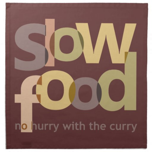 Comida lenta servilleta