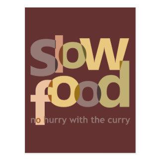 Comida lenta postal