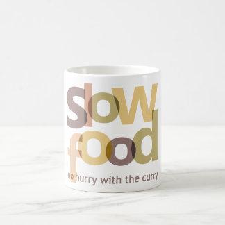 Comida lenta taza