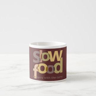 Comida lenta taza espresso