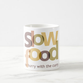 Comida lenta taza de café