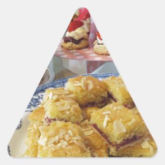 Comida libre del fiesta del gluten pegatina triangular
