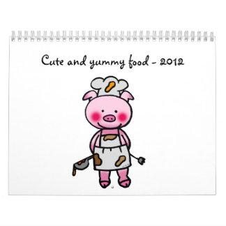 comida linda y deliciosa - 2012 calendario de pared
