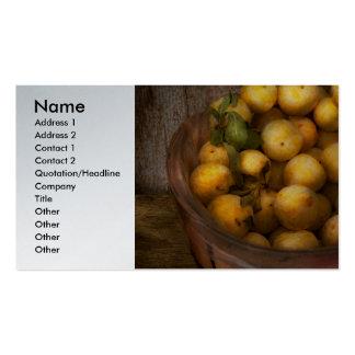 Comida - manzanas - manzanas de oro plantilla de tarjeta personal